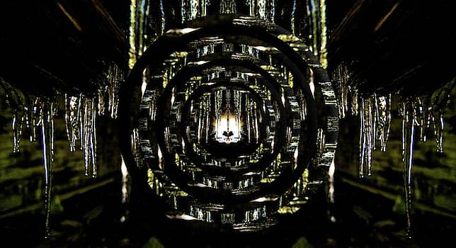 Pelo Blanco Photo - Tunnel Icicles Reflection Circles