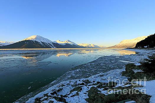 Turnagain Arm in winter Alaska by Louise Heusinkveld