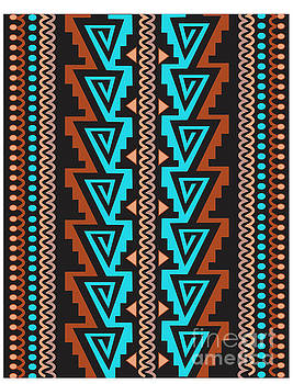 Turquoise Triangle pattern by Shelley Myers