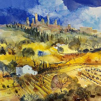 Tuscan landscape - San Gimignano by Alessandro Andreuccetti