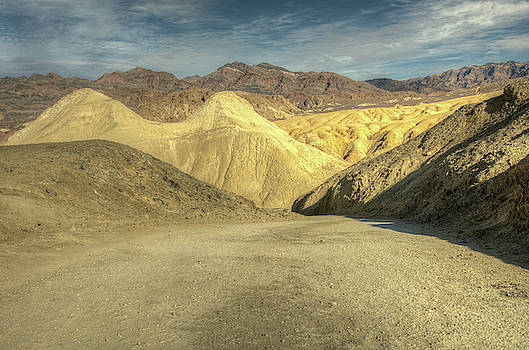 Twenty Mule Team Canyon Drive in Death Valley National Park by Constance Puttkemery