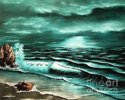 Twilight at Sea by Lia Van Elffenbrinck