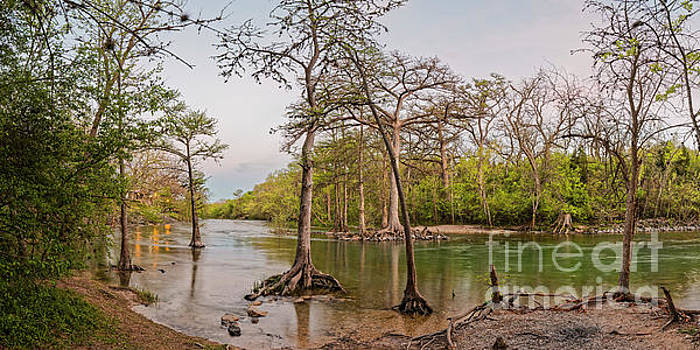 Twilight Glow Settling on the Guadalupe River at Canyon Lake - New Braunfels Texas Hill Country by Silvio Ligutti