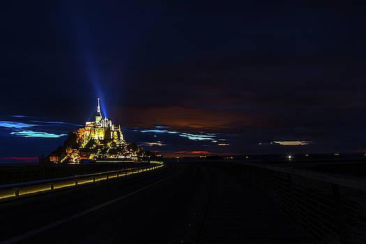Twilight over Mont Saint Michel by Andrew Soundarajan