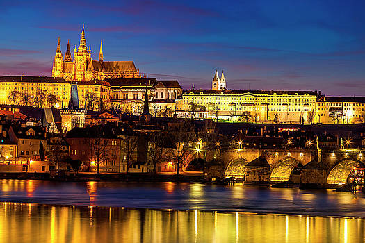 Twilight over Prague by Andrew Soundarajan