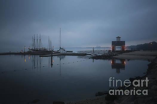 Twilight Ships at Dock by Rachel Morrison