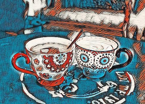 Twin Coffee Cups by Angel Eowyn