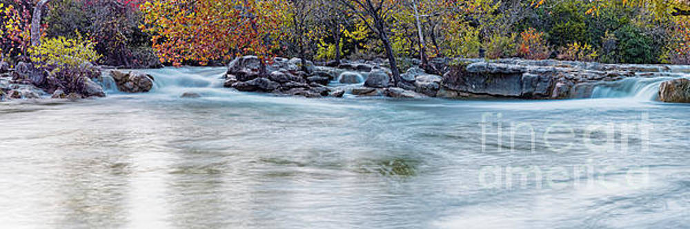 Twin Falls Area at Barton Creek Greenbelt - City of Austin Texas Hill Country by Silvio Ligutti