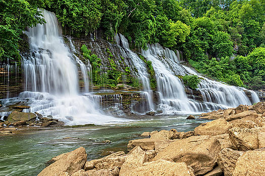 Twin Falls In Rock Island State Park by Jim Vallee