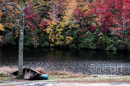 Two Canoes on an Autumn Day by Anita Faye