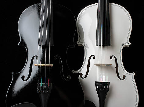 Two Graphic Violins by Garry Gay