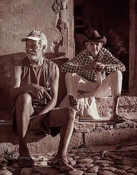 Two Guys in Trinidad Cuba by Joan Carroll