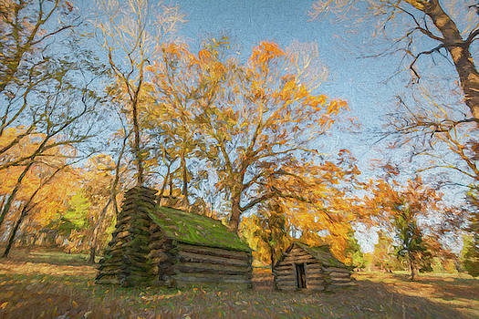 Two Huts in the Autumn by Jeff Oates Photography