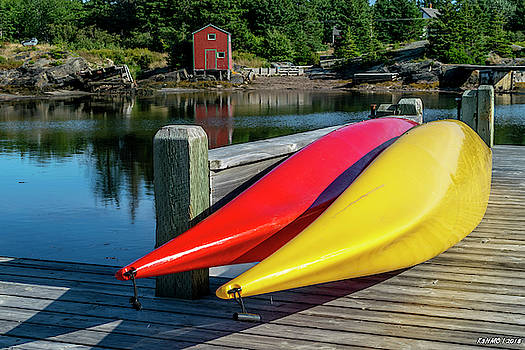 Two Kayaks by Ken Morris