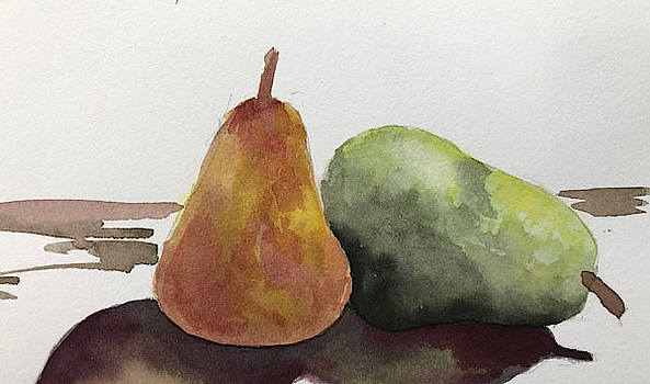 Two Pear Study by Nancy Goldman