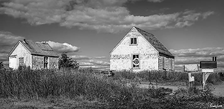 Two Sheds in Blue Rocks #01 by Ken Morris