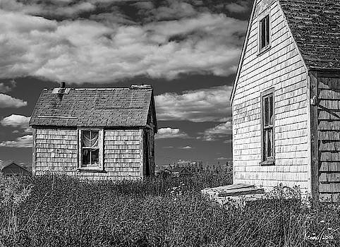 Two Sheds in Blue Rocks #2 by Ken Morris