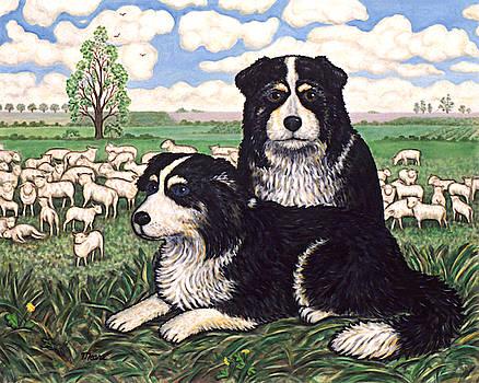 Linda Mears - Two Sheep Dogs