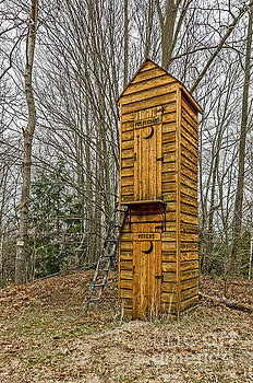 Two-story Outhouse for Voters and Politicians by Sue Smith