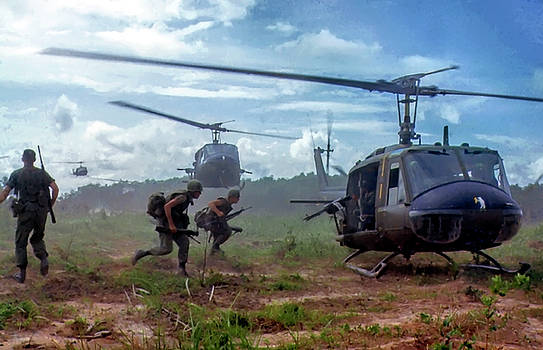 Daniel Hagerman - U. S. MARINES ferried to FIREBASE - VIETNAM WAR c. 1969