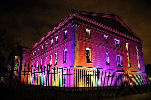 U. S. Mint In Mardi Gras Colors In The French Quarter Of New Orleans by Michael Hoard