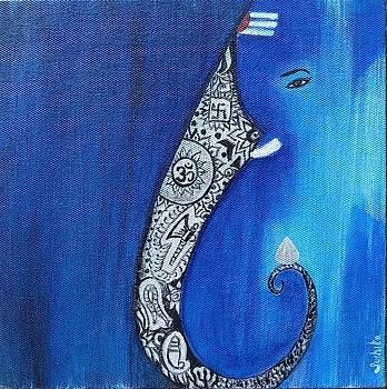 Ultimate Serene Lord Ganesha Painting /Print by Suchita Pawar