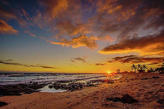 Ultra Wide Sunset Beach View by John Bauer