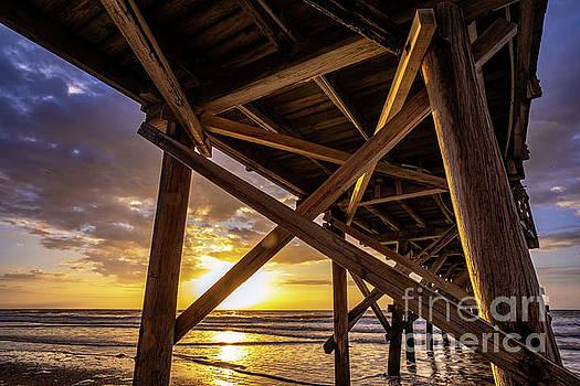 Under Cherry Grove Pier Sunrise by David Smith