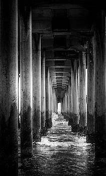 Underneath Huntington Beach Pier by Art Spectrum