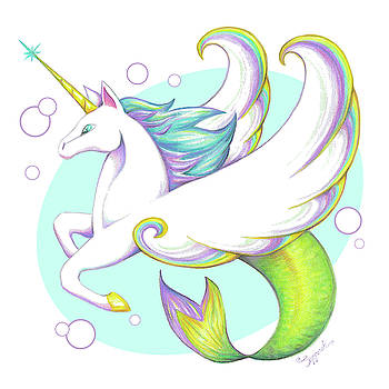 Unicorn of the Sea by Sipporah Art and Illustration