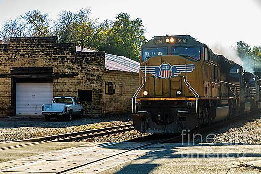 Union Pacific Train Engine by Terri Morris