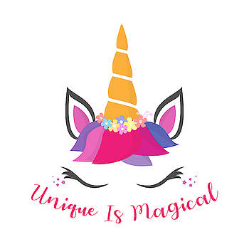 Unique Is Magical - Baby Room Nursery Art Poster Print by Dadada Shop