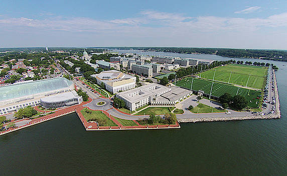 United States Naval Academy on the Severn by Mark Duehmig