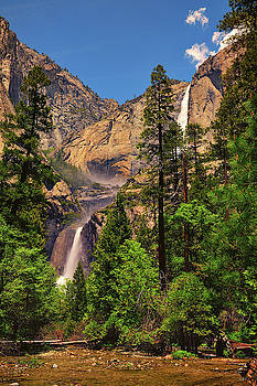 Upper and Lower Yosemite Falls by Greg Norrell