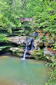 Upper Falls Old Man's Gorge Vertical by Lisa Wooten