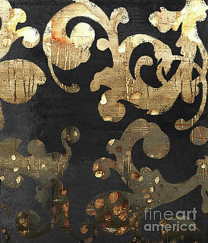 Tina Lavoie - Urban French Damask Black and Gold Grunge