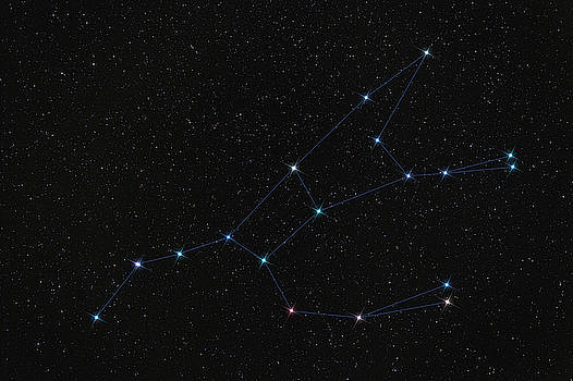 Ursa Major constellation, stars connected by lines by Lukasz Szczepanski