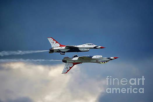 US Airforce Thunderbirds by Warrena J Barnerd