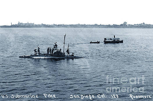 California Views Archives Mr Pat Hathaway Archives - U.S. Submarine Pike off San Diego, California,  with Sailors on