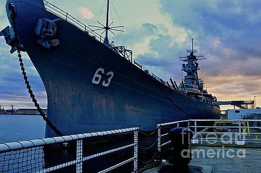 USS Missouri at Sunset by Craig Wood