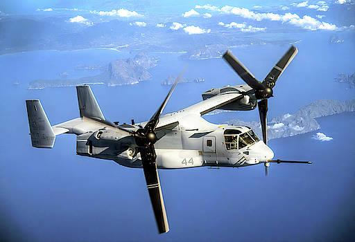 V-22 Osprey V T O L Aircraft by Daniel Hagerman