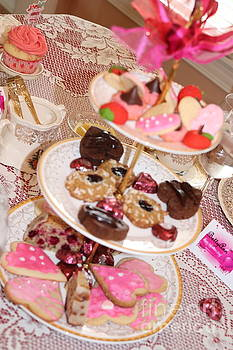 Valentine Edible ArTower  by Laurel Adams