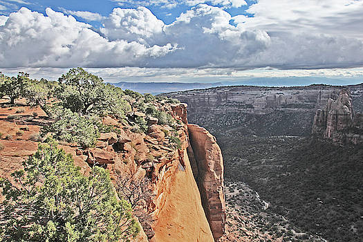 Valley Colorado National Monument Sky Clouds 2892 by David Frederick