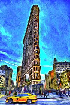 Van Gogh Flatiron Building  by David Pyatt