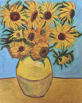 Van Gogh Sunflowers Study by Mariam C