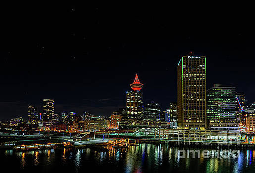 Vancouver at night by Viktor Birkus