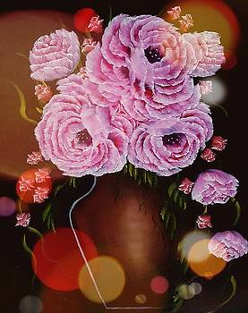 Vase of gorgeous beauty stardust  by Angela Whitehouse