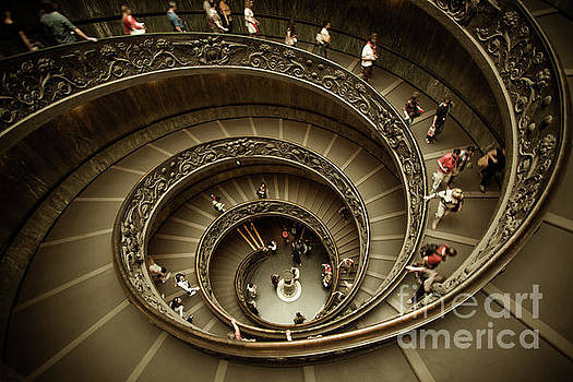 Vatican Museums Spiral Staircase by Stefano Senise