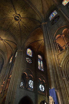 RicardMN Photography - Vaults and stained glass windows of Notre Dame de Paris before the fire of 2019