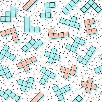 Vector Geometric Seamless Pattern In by Natalia Kuprova